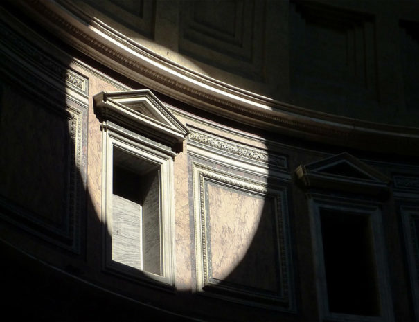 light inside the Pantheon
