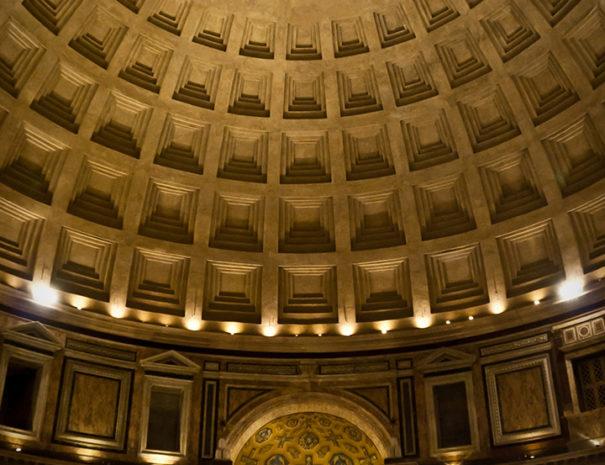 Cupola Pantheon di notte